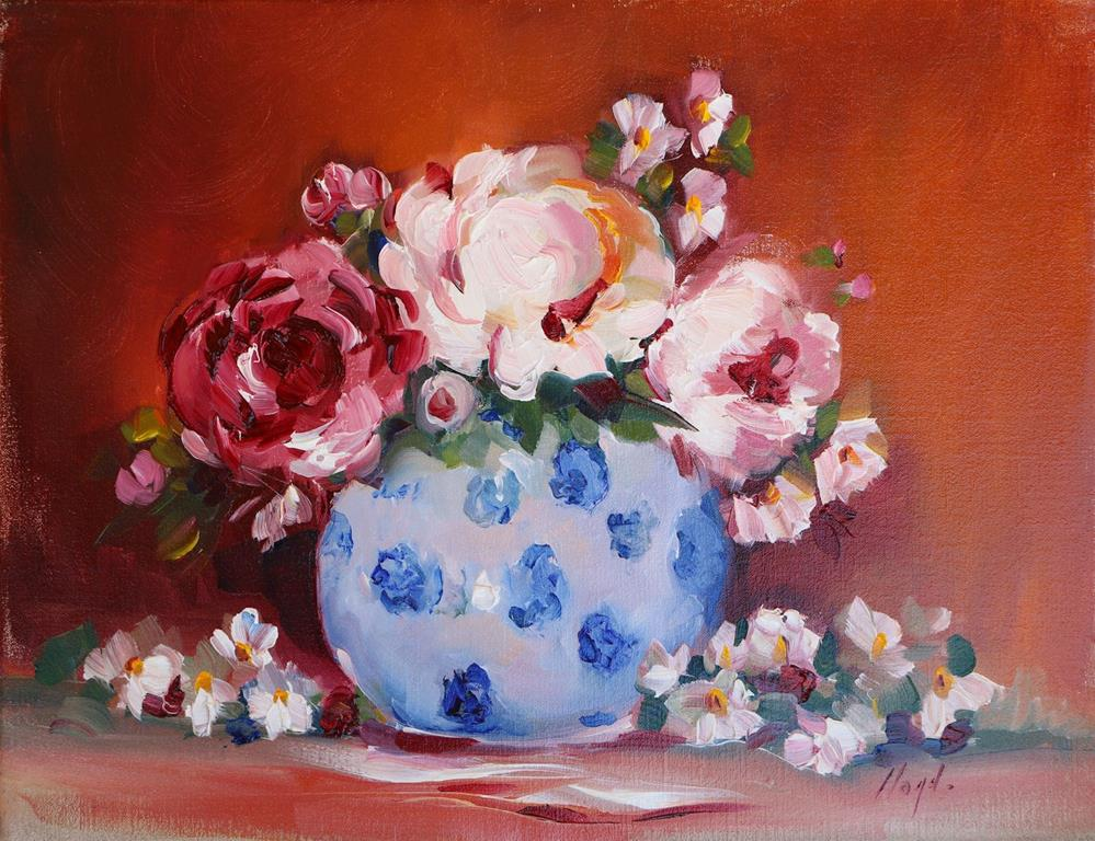 """Peonies and Petals"" original fine art by Diane Lloyd"