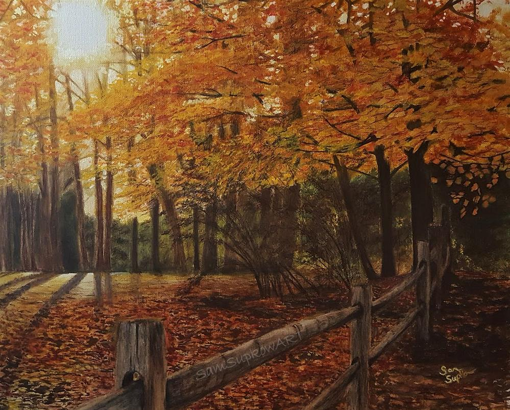 """Autumn Forest"" original fine art by Sam Supkow"