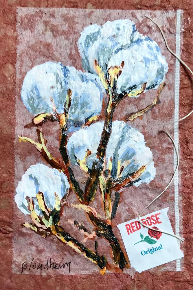 """""""Cotton Bolls"""" original fine art by Linda Blondheim"""