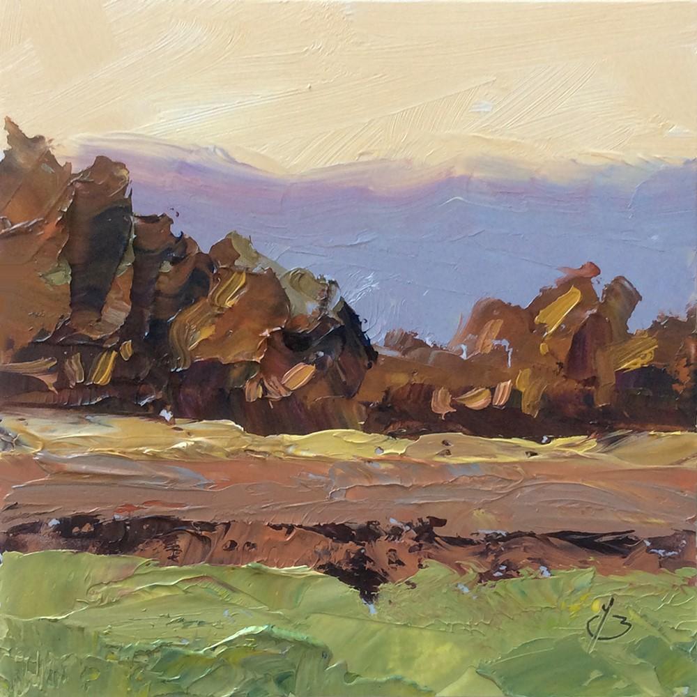 """MINIATURE LANDSCAPE"" original fine art by Tom Brown"