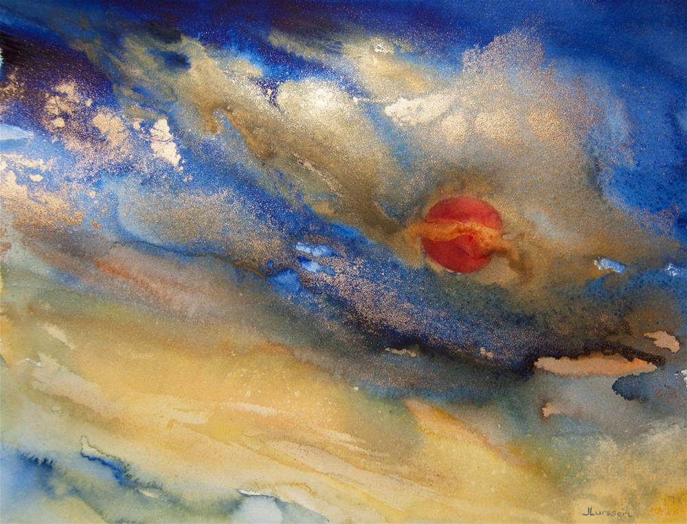 """""""Blood Moon"""" original fine art by Jean Lurssen"""