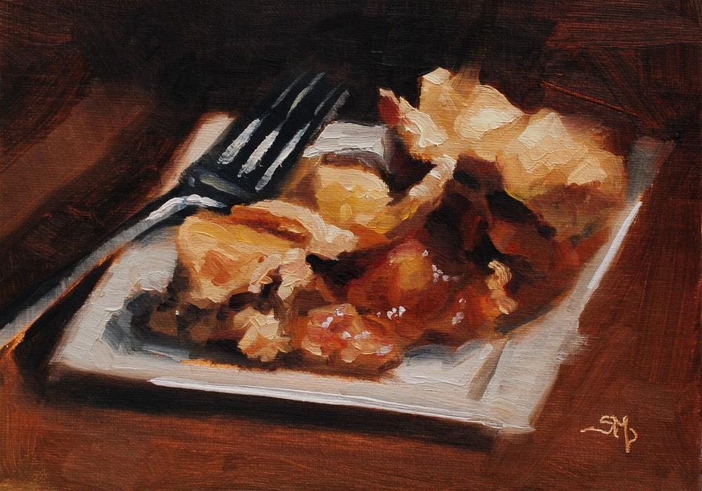 """""""No. 571 Ooey Gooey Apple Pie"""" original fine art by Susan McManamen"""