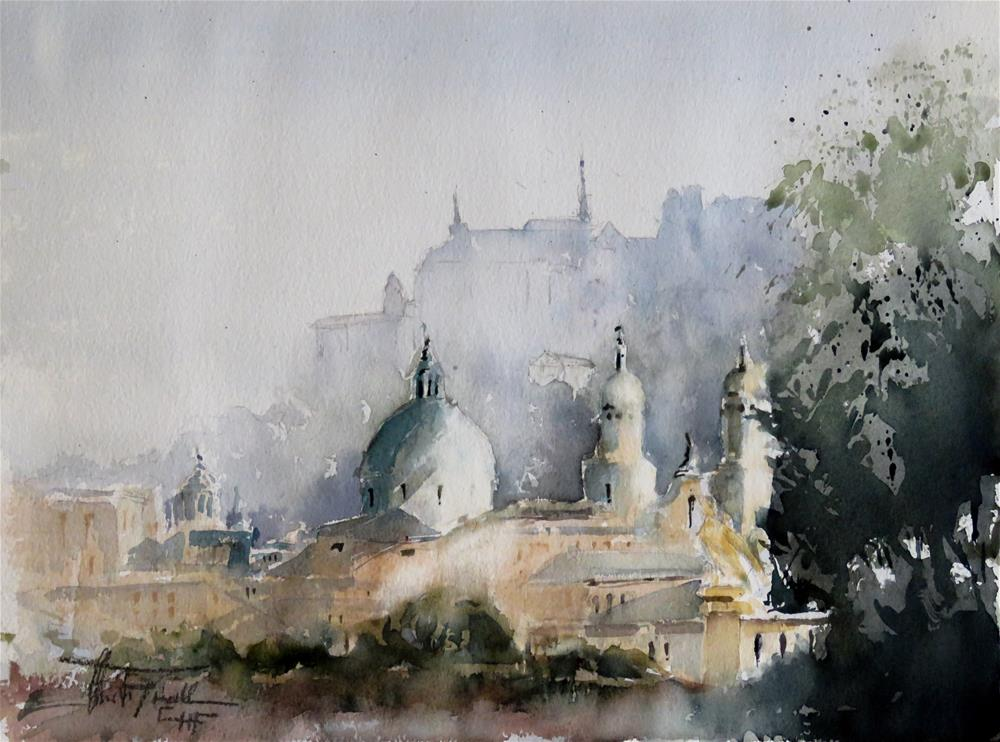 """Salzburg, Austria"" original fine art by Christa Friedl"