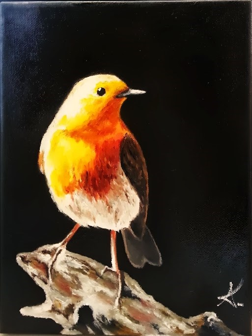 """Proud bird"" original fine art by Konstantia Karletsa"