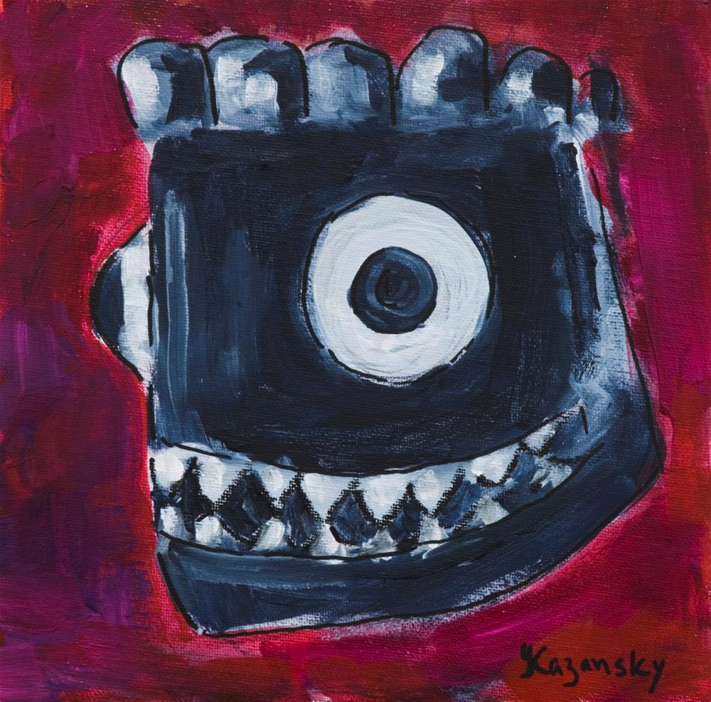 """Black Mask"" original fine art by Yulia Kazansky"