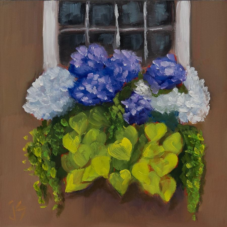 """""""Overflowing"""" original fine art by Johnna Schelling"""