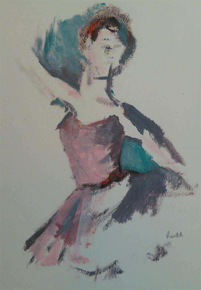 """""""Tango Ballet"""" original fine art by Ann Rudd"""