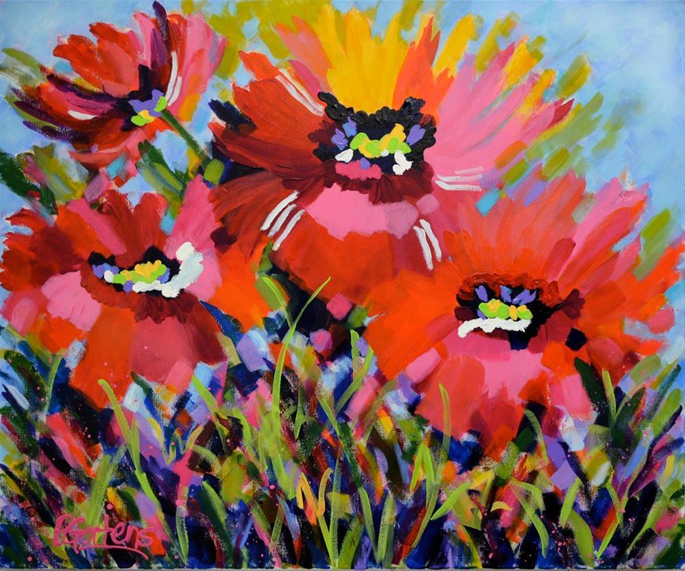 """Poppies for Ruth"" original fine art by Pamela Gatens"