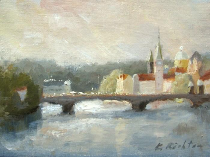 """Sunset Color, Prague"" original fine art by Keiko Richter"