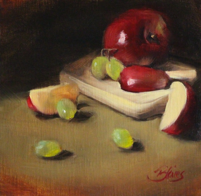 """Red Apple Slices"" original fine art by Pamela Blaies"
