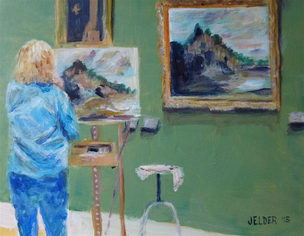 """""""Learning From the Masters, Paris No. 80"""" original fine art by Judith Elder"""