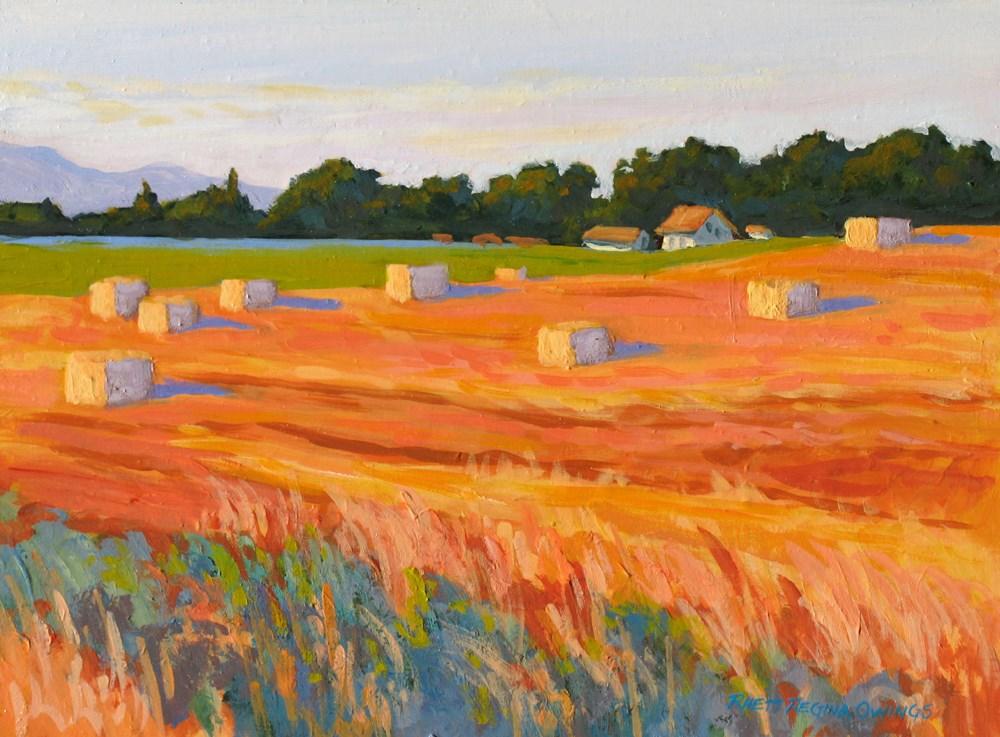 """""""Hay Bales"""" original fine art by Rhett Regina Owings"""
