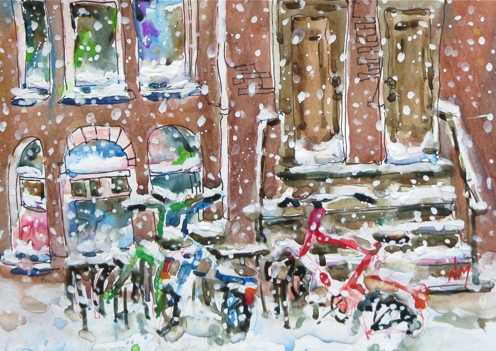 """New York Ride"" original fine art by Nora MacPhail"