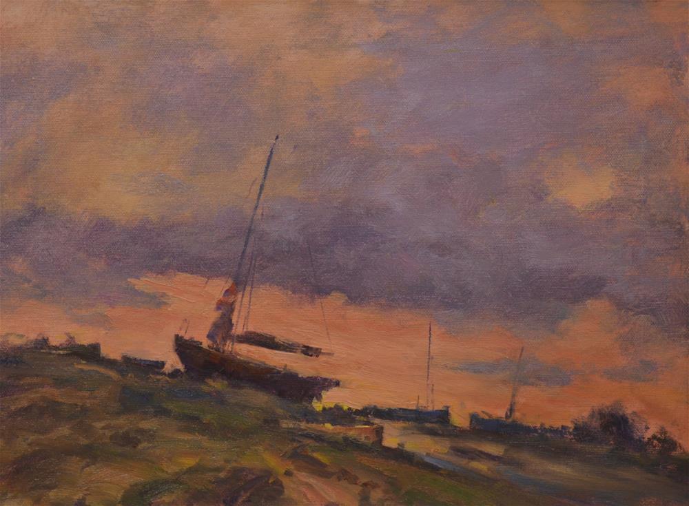 """Down At The Boatyard"" original fine art by John Shave"