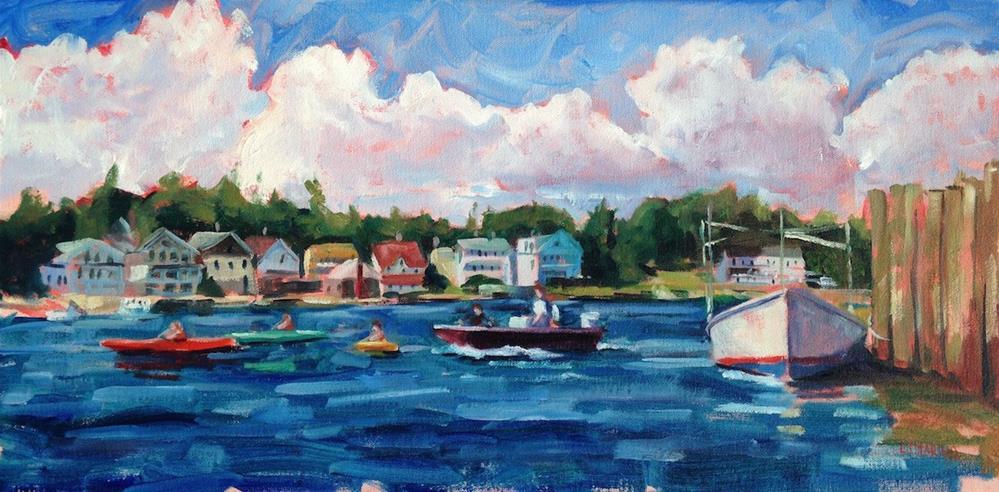 """On the Waterfront"" original fine art by Linda Marino"