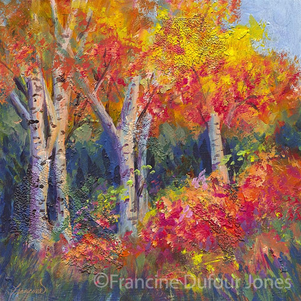 """Autumn Delight"" original fine art by Francine Dufour~Jones"