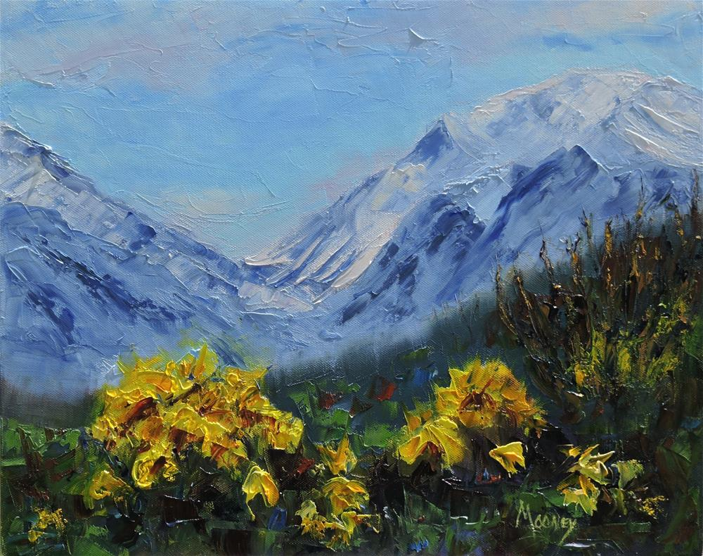 """Created Butte Spring flowers"" original fine art by Linda mooney"