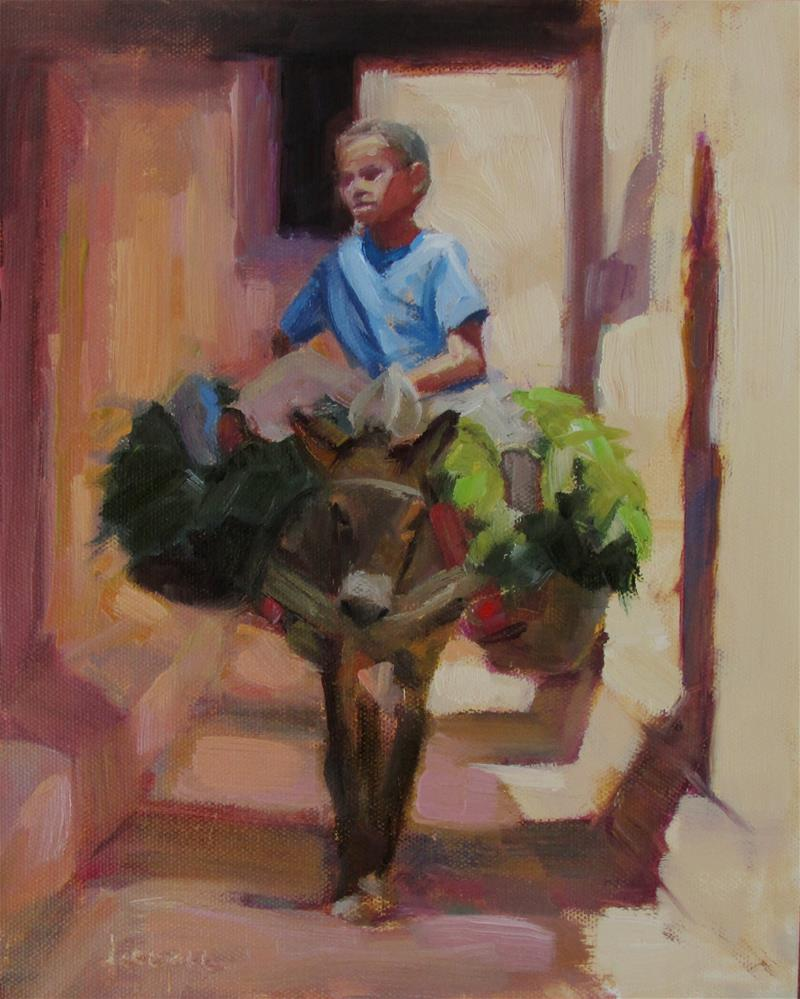 """Moroccan Boy"" original fine art by Dana Cooper"