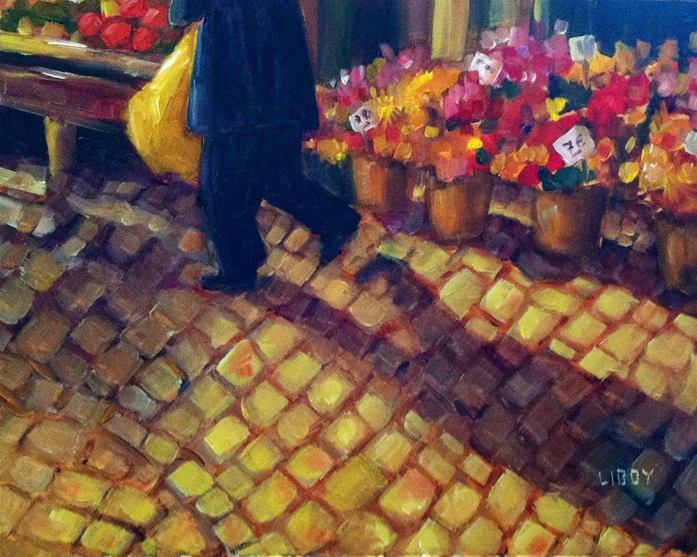 """Morning Market"" original fine art by Libby Anderson"