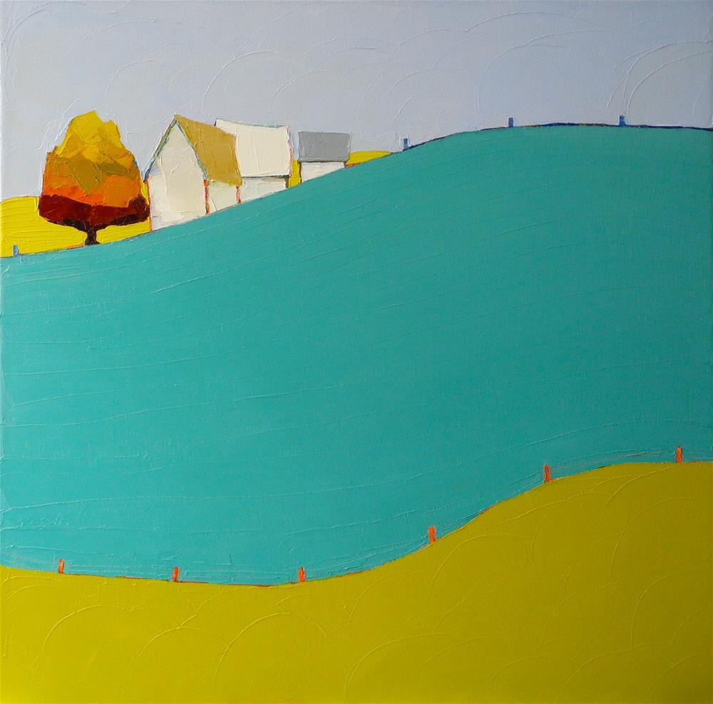 """""""Rolling Along II"""" original fine art by Donna Walker"""