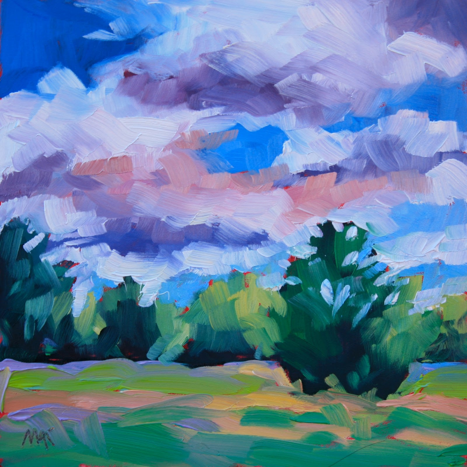 """""""Maine Landscape #17"""" original fine art by Mary Anne Cary"""