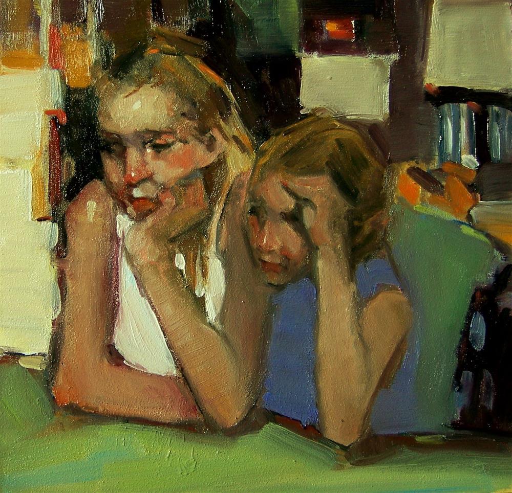 """""""Sisters"""" original fine art by Kim Roberti"""