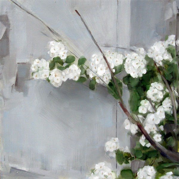 """White Flowers (no.61)"" original fine art by Michael William"