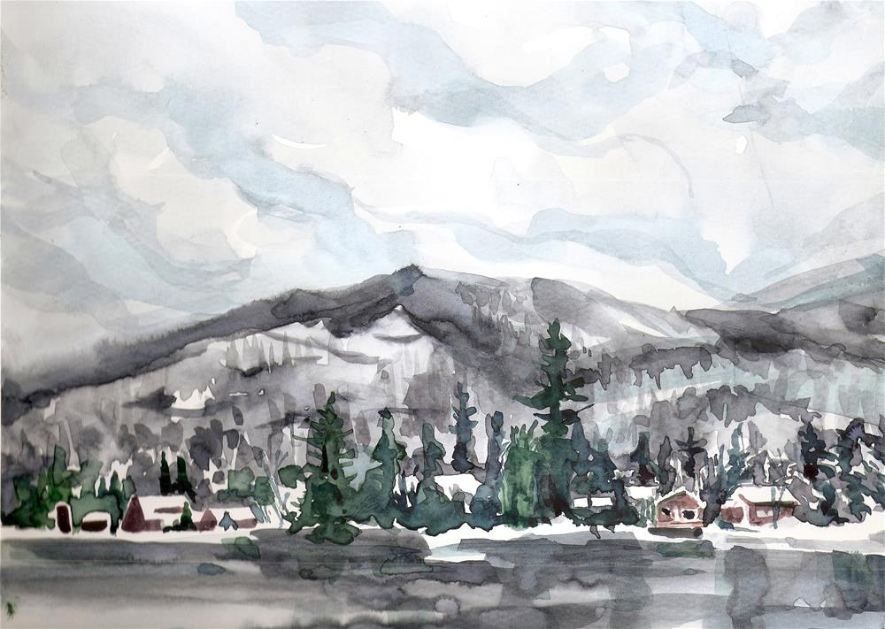 """Blue Mountain Lake, NY"" original fine art by Jean Krueger"