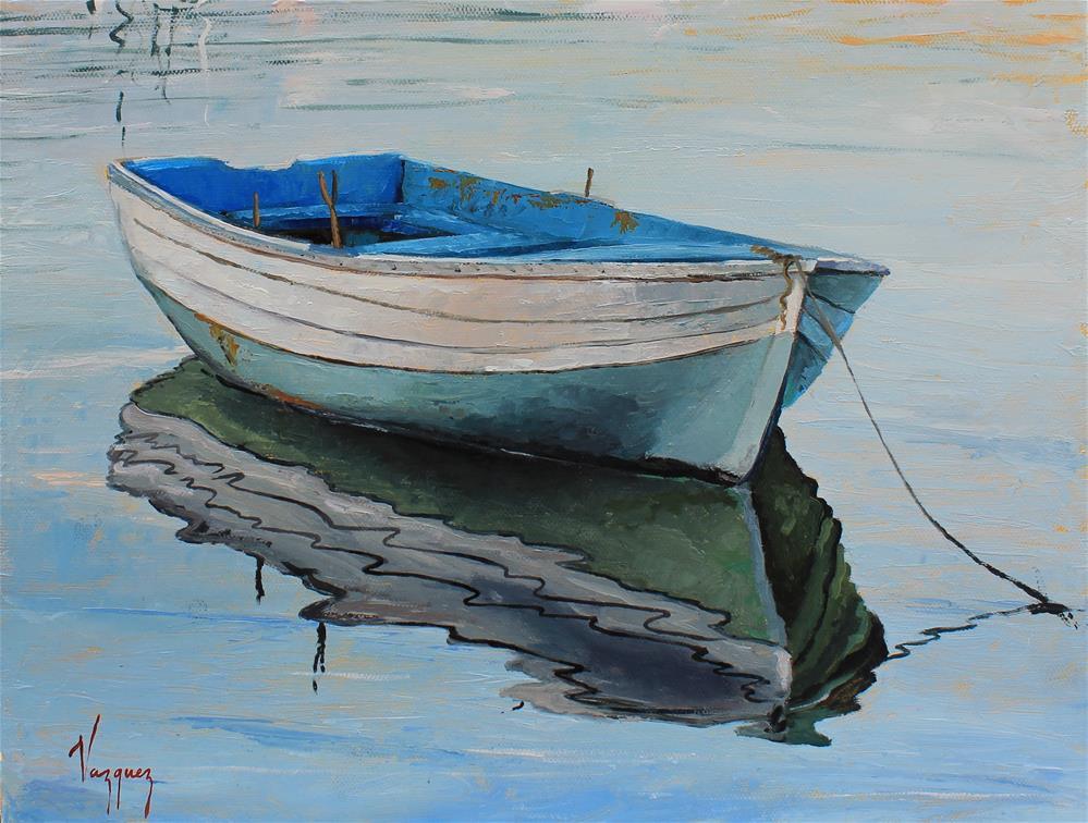 """""""Blue """" original fine art by Marco Vazquez"""