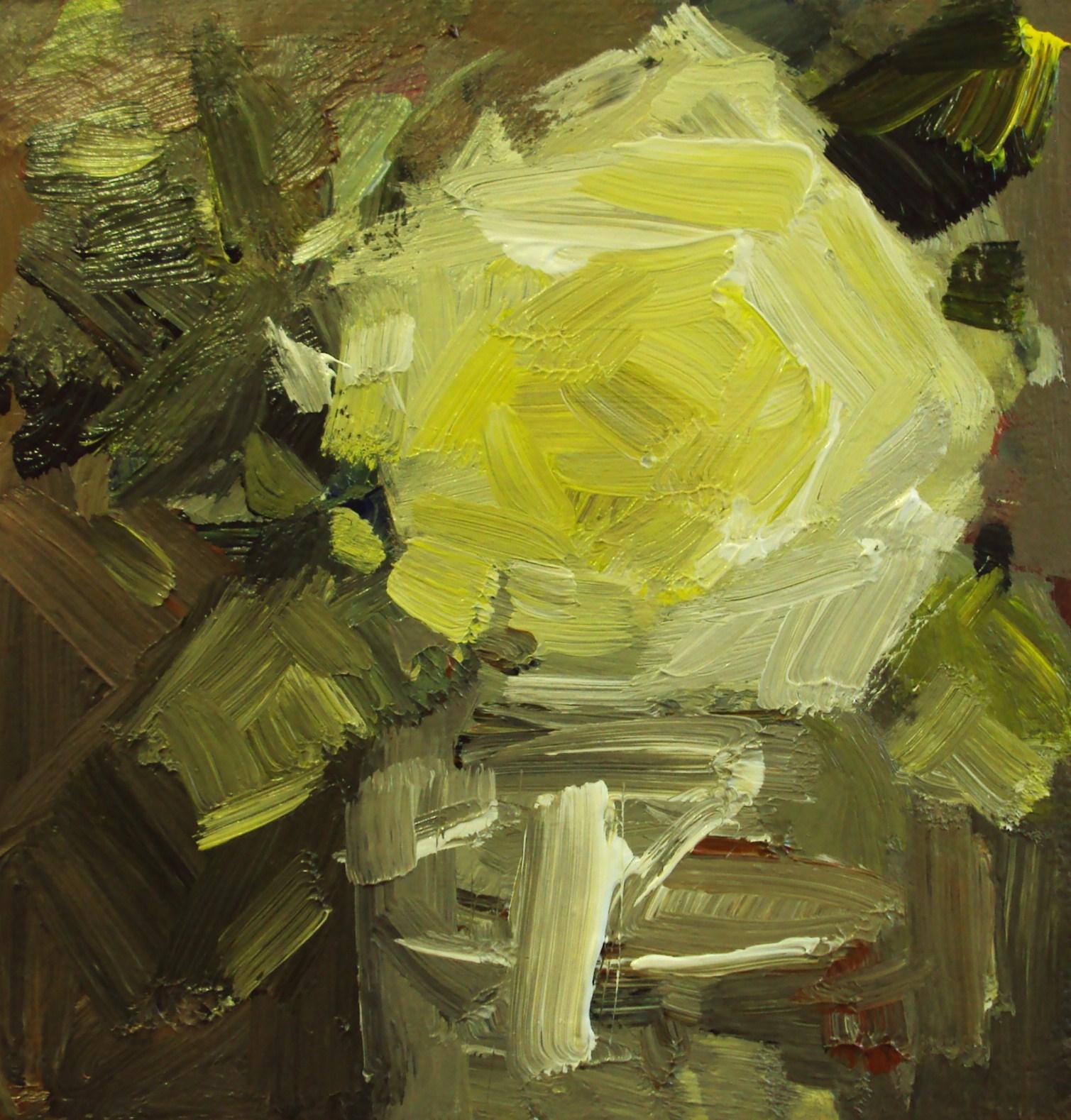 """yellow burst"" original fine art by Parastoo Ganjei"