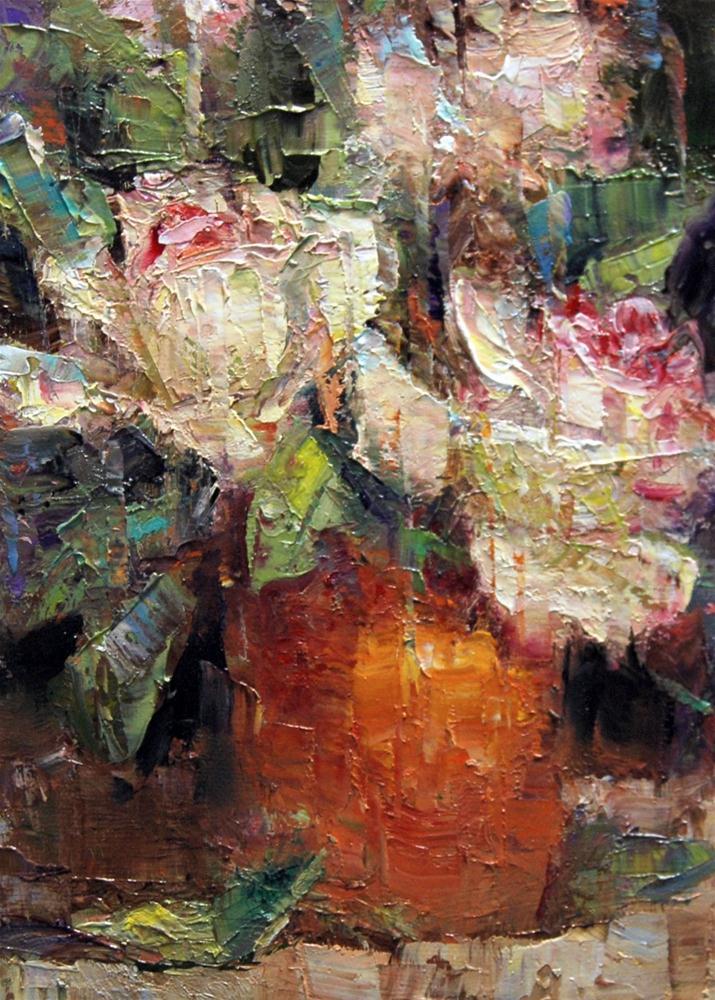 """Roses in Terracotta."" original fine art by Julie Ford Oliver"