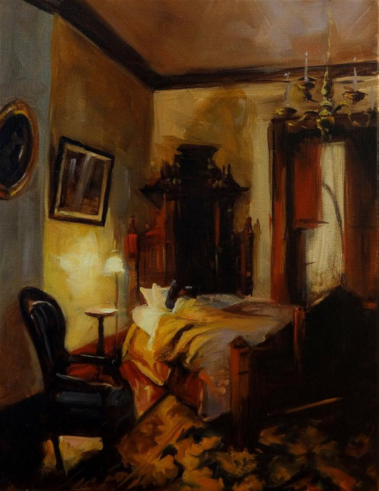 """Victorian Bedroom"" original fine art by Jonelle Summerfield"