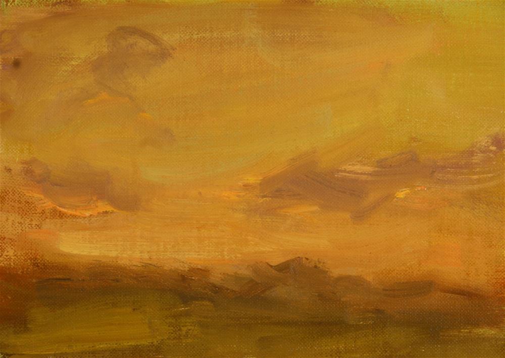 """""""Summer Sunset 04"""" original fine art by Scott Serafica"""
