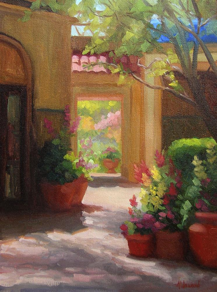 """Sunlit Courtyard"" original fine art by Sherri Aldawood"