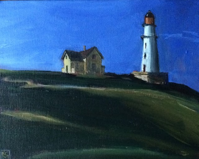 """Hopper's Light, 8x10 inch Acrylic by Kelley MacDonald"" original fine art by Kelley MacDonald"