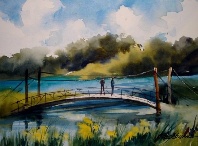 """""""Thinking of Warmer Days"""" original fine art by Kathy Los-Rathburn"""