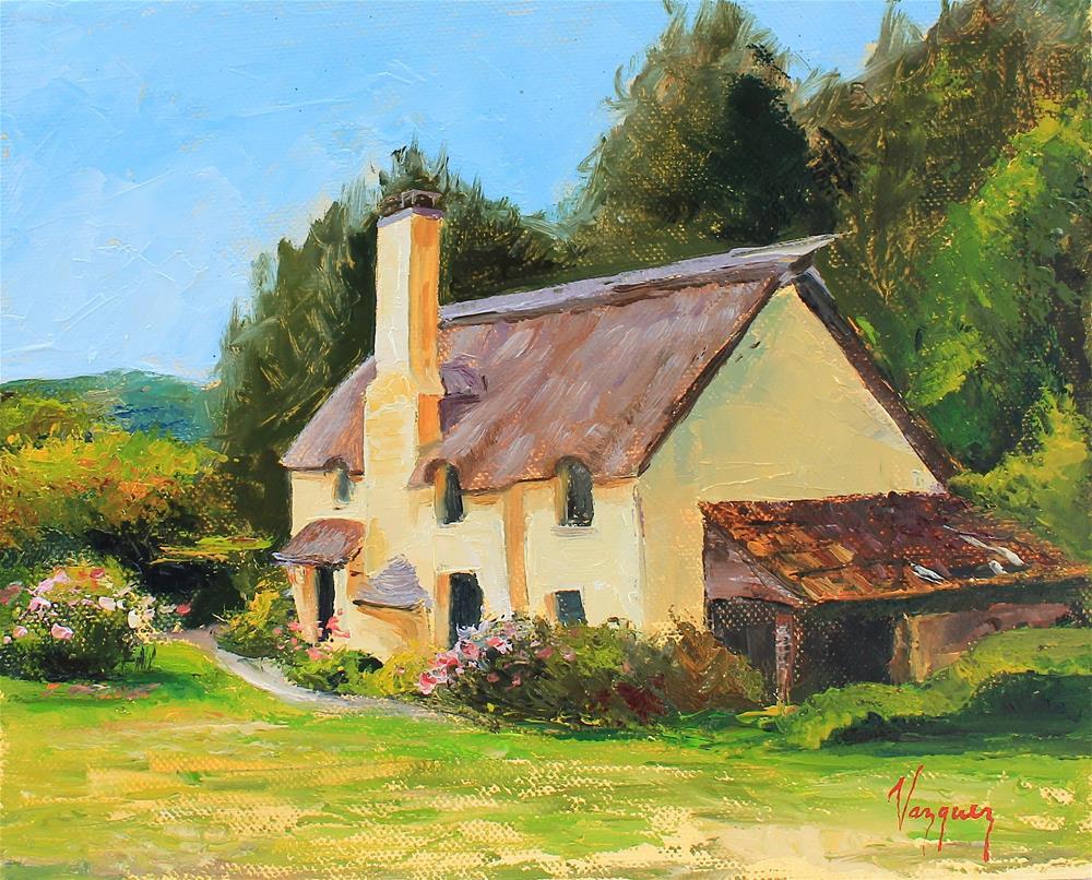 """""""Cottage house"""" original fine art by Marco Vazquez"""