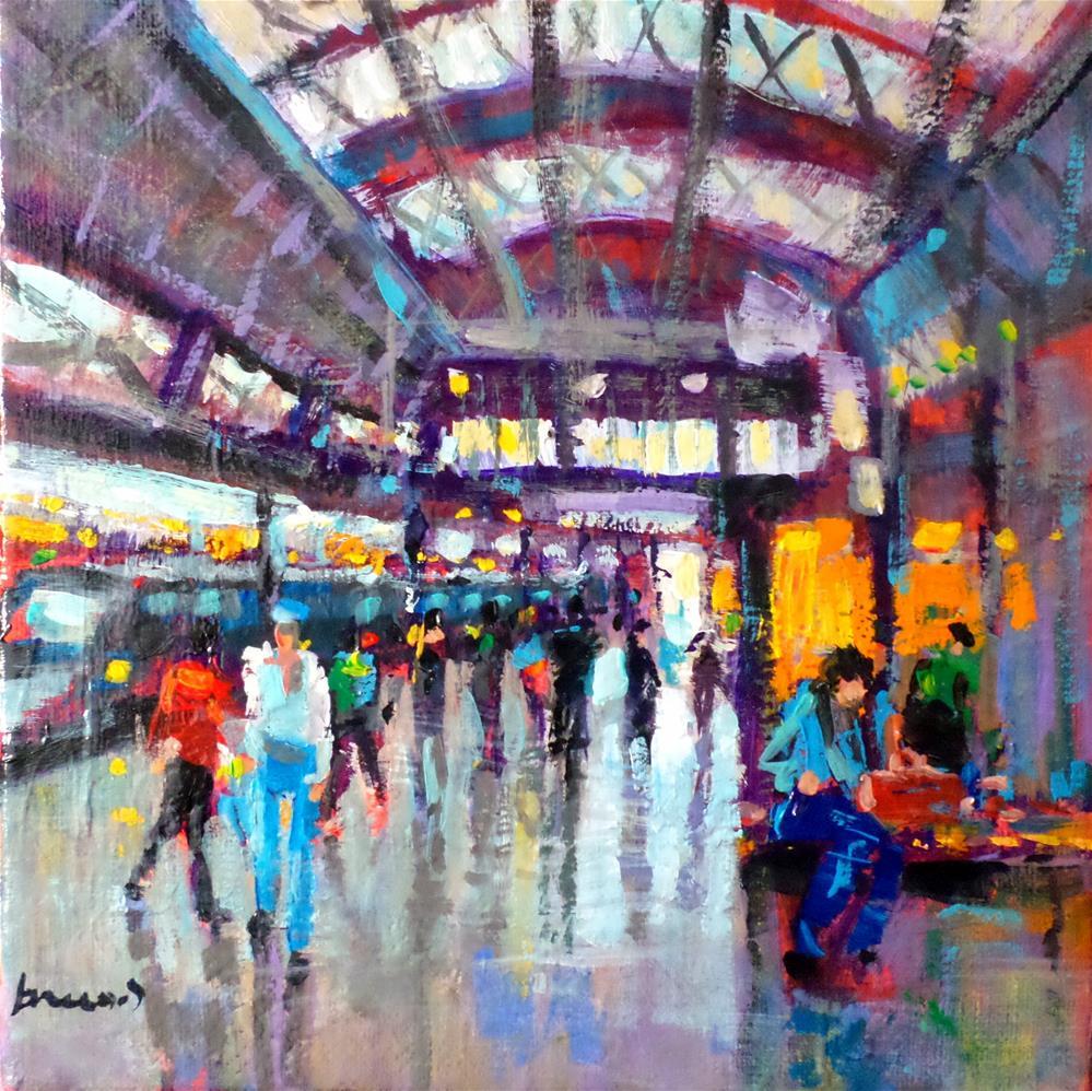 """""""train station"""" original fine art by salvatore greco"""