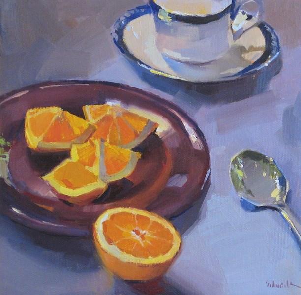 """An Orange for Tea"" original fine art by Sarah Sedwick"