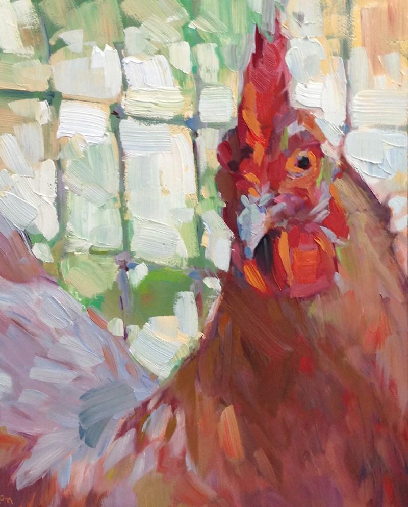 """Henrietta is Hungry Too"" original fine art by Patti McNutt"
