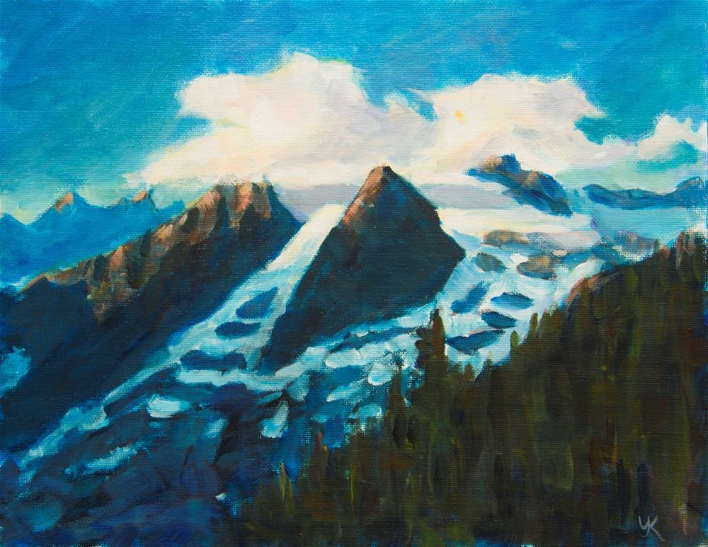 """Last Rays of Sun"" original fine art by Yulia Kazansky"