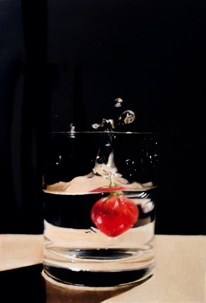 """Strawberry Splash"" original fine art by James Coates"
