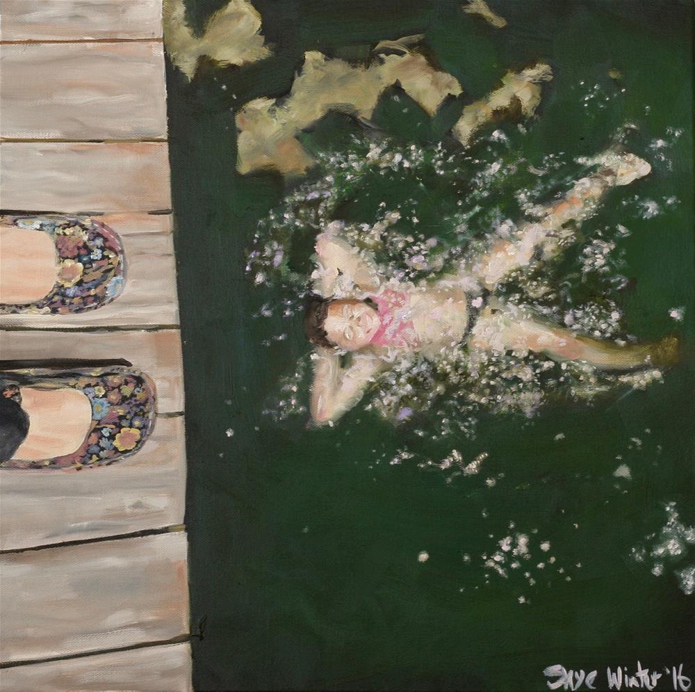 """Water Baby"" original fine art by Skye Coddington"