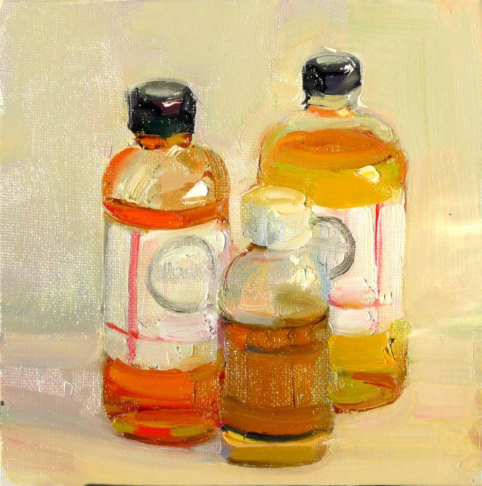 """Painting Medium.still life,oil on canvas,6x6,price$200"" original fine art by Joy Olney"