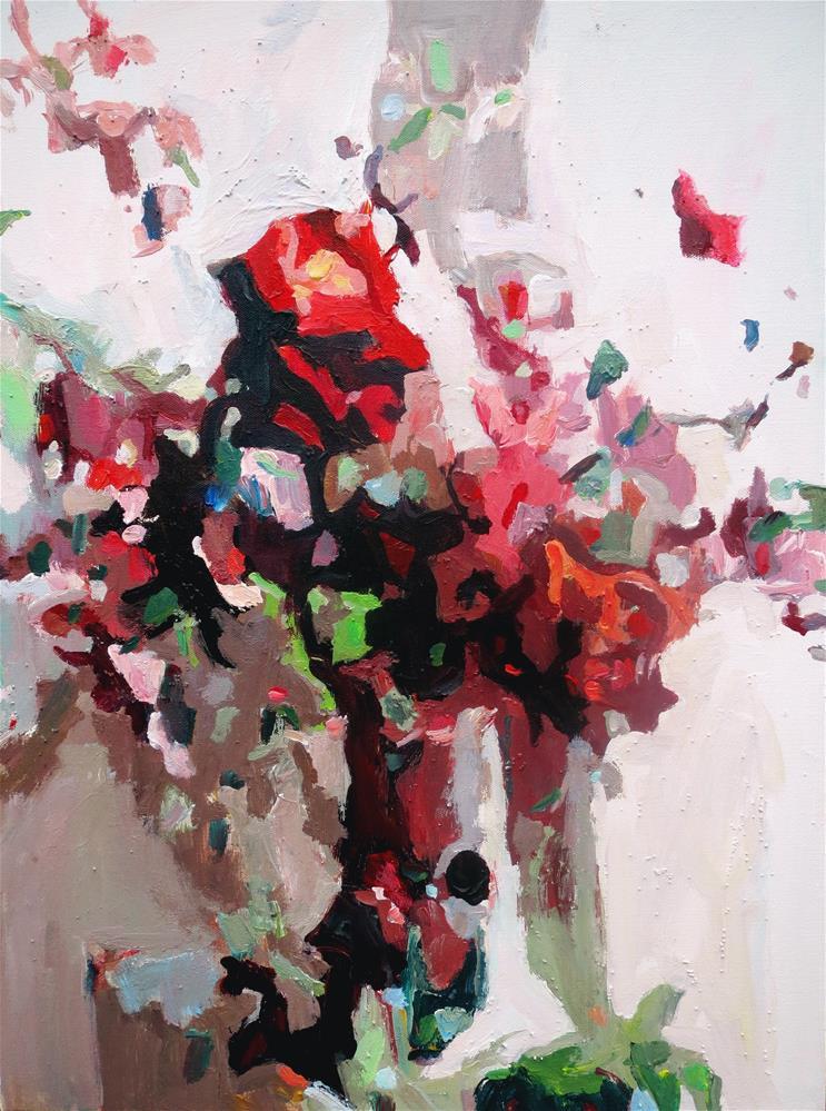 """Buon Anniversario"" original fine art by Nava Judith"