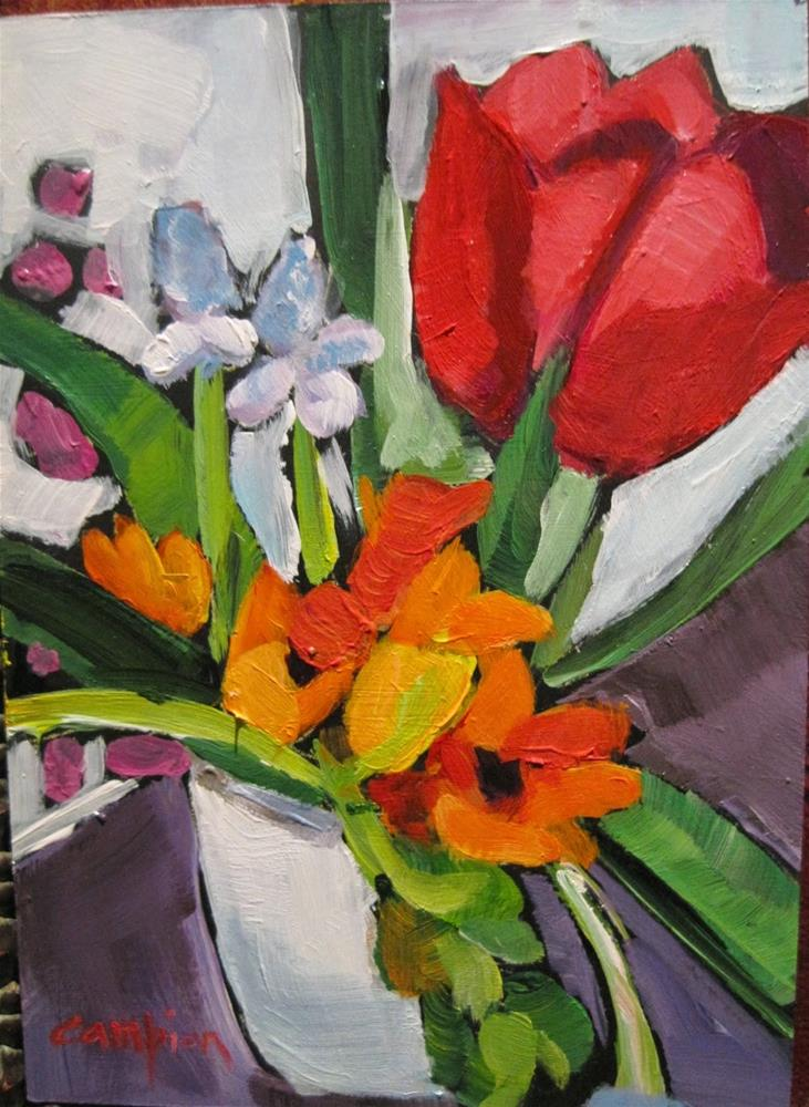 """338 Welcome Spring"" original fine art by Diane Campion"