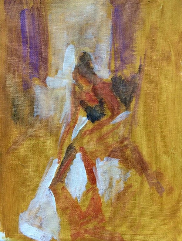 """Getting Ready"" original fine art by Sharon Savitz"