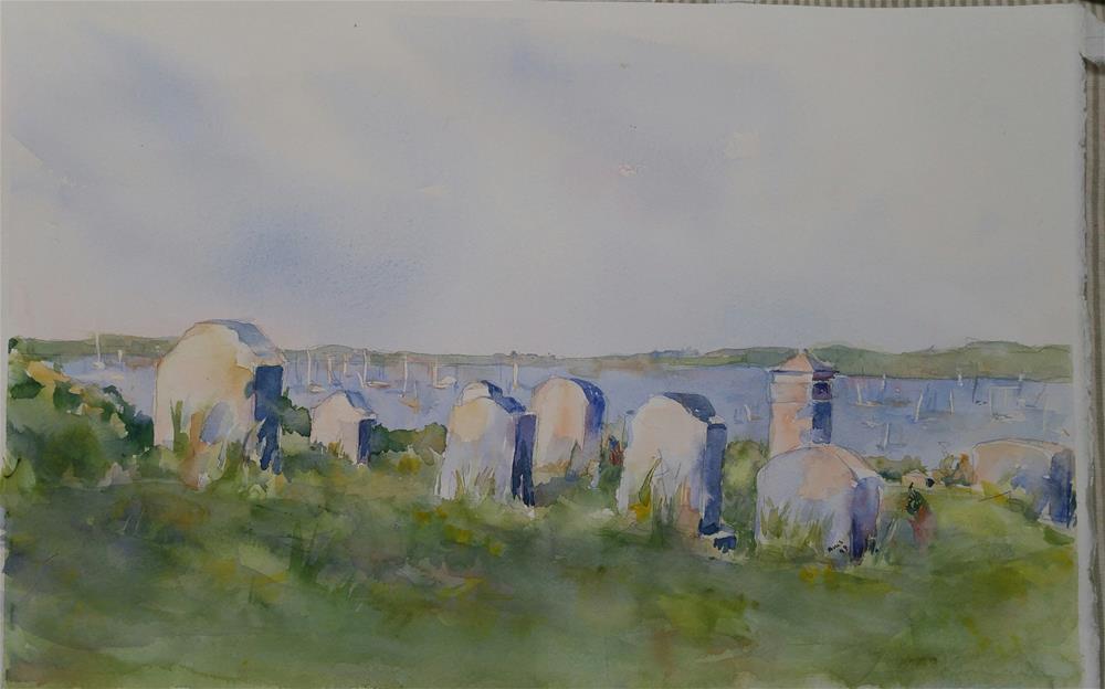 """Block Island View"" original fine art by angela scully"