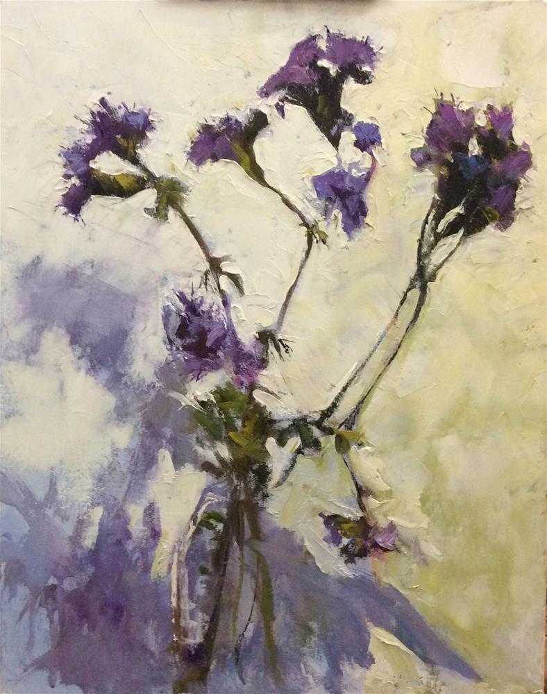 """""""Purple and Gold"""" original fine art by John Shave"""
