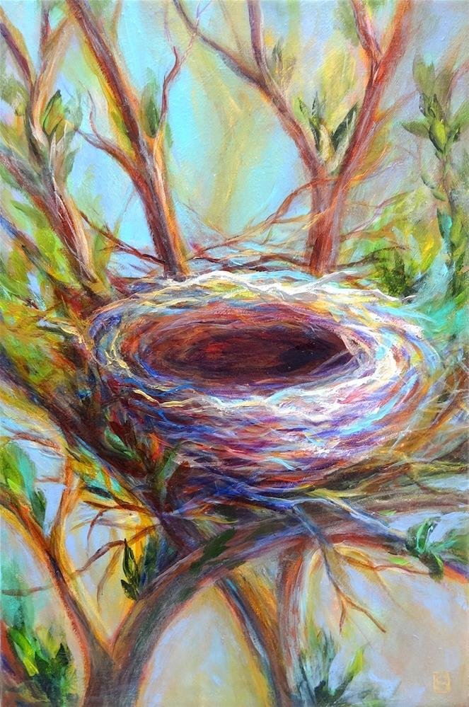 """5057 - Framed - New Life"" original fine art by Sea Dean"